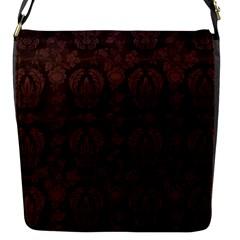 Leaf Pattern Green Wallpaper Tea Leather Flap Messenger Bag (s)