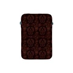 Leaf Pattern Green Wallpaper Tea Leather Apple iPad Mini Protective Soft Cases