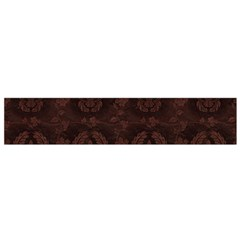 Leaf Pattern Green Wallpaper Tea Leather Flano Scarf (Small)