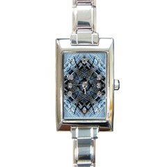 Jeans Background Rectangle Italian Charm Watch