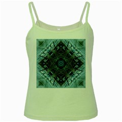 Jeans Background Green Spaghetti Tank