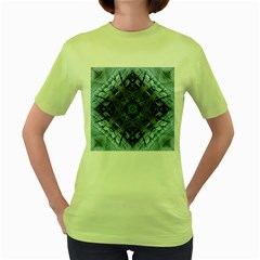 Jeans Background Women s Green T Shirt