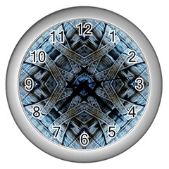Jeans Background Wall Clocks (Silver)