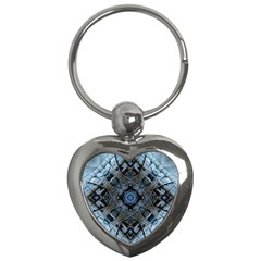 Jeans Background Key Chains (heart)