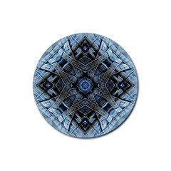 Jeans Background Rubber Coaster (Round)