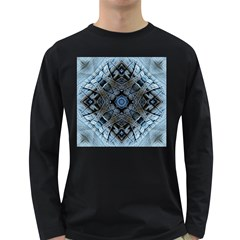 Jeans Background Long Sleeve Dark T Shirts