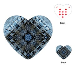 Jeans Background Playing Cards (Heart)