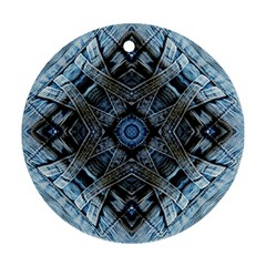 Jeans Background Round Ornament (Two Sides)