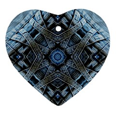 Jeans Background Heart Ornament (two Sides)