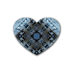 Jeans Background Rubber Coaster (Heart)