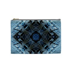 Jeans Background Cosmetic Bag (medium)