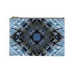 Jeans Background Cosmetic Bag (large)