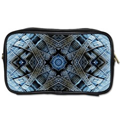 Jeans Background Toiletries Bags