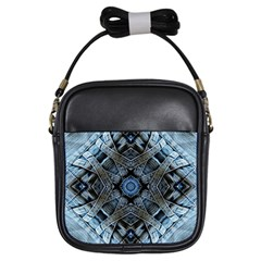 Jeans Background Girls Sling Bags