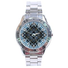 Jeans Background Stainless Steel Analogue Watch