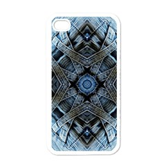 Jeans Background Apple iPhone 4 Case (White)