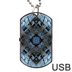 Jeans Background Dog Tag Usb Flash (two Sides)