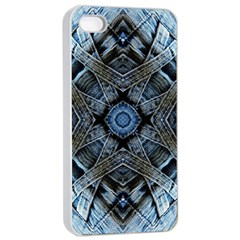 Jeans Background Apple iPhone 4/4s Seamless Case (White)