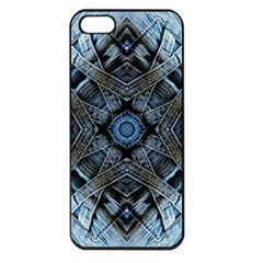 Jeans Background Apple Iphone 5 Seamless Case (black)