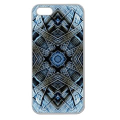 Jeans Background Apple Seamless Iphone 5 Case (clear)