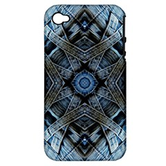 Jeans Background Apple Iphone 4/4s Hardshell Case (pc+silicone)