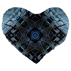 Jeans Background Large 19  Premium Heart Shape Cushions