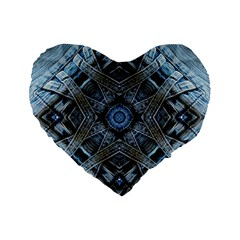 Jeans Background Standard 16  Premium Flano Heart Shape Cushions