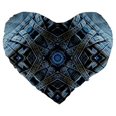 Jeans Background Large 19  Premium Flano Heart Shape Cushions