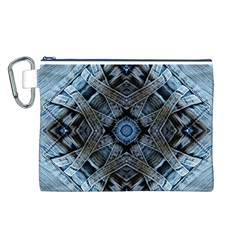 Jeans Background Canvas Cosmetic Bag (l)