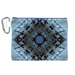 Jeans Background Canvas Cosmetic Bag (XL)