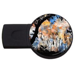 Landscape Sunset Sky Summer USB Flash Drive Round (4 GB)