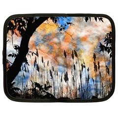 Landscape Sunset Sky Summer Netbook Case (Large)