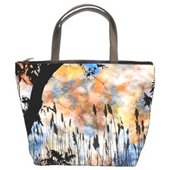 Landscape Sunset Sky Summer Bucket Bags