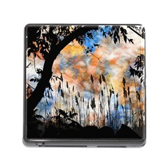 Landscape Sunset Sky Summer Memory Card Reader (Square)