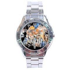 Landscape Sunset Sky Summer Stainless Steel Analogue Watch