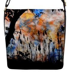 Landscape Sunset Sky Summer Flap Messenger Bag (s)