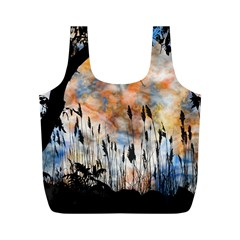 Landscape Sunset Sky Summer Full Print Recycle Bags (m)