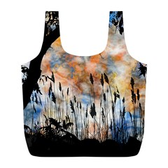 Landscape Sunset Sky Summer Full Print Recycle Bags (l)