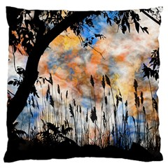 Landscape Sunset Sky Summer Large Flano Cushion Case (one Side)