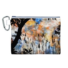 Landscape Sunset Sky Summer Canvas Cosmetic Bag (l)