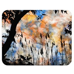 Landscape Sunset Sky Summer Double Sided Flano Blanket (Medium)