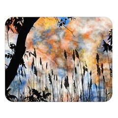 Landscape Sunset Sky Summer Double Sided Flano Blanket (Large)