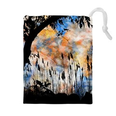 Landscape Sunset Sky Summer Drawstring Pouches (Extra Large)