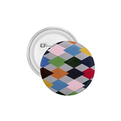 Leather Colorful Diamond Design 1.75  Buttons
