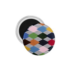 Leather Colorful Diamond Design 1 75  Magnets