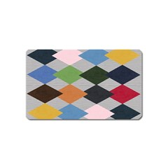 Leather Colorful Diamond Design Magnet (Name Card)