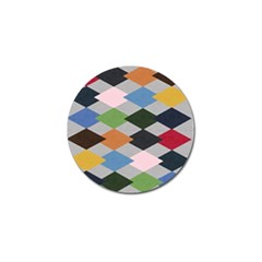 Leather Colorful Diamond Design Golf Ball Marker (10 pack)