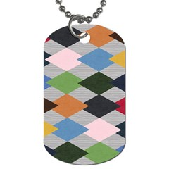 Leather Colorful Diamond Design Dog Tag (two Sides)