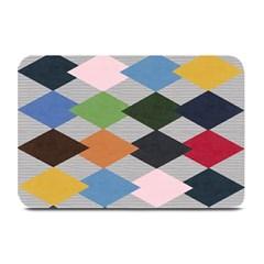 Leather Colorful Diamond Design Plate Mats