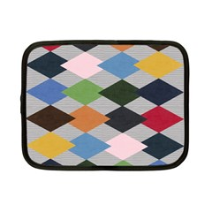 Leather Colorful Diamond Design Netbook Case (small)